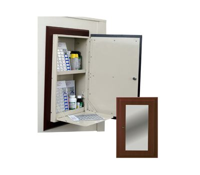 Harloff Wood Look In Room Cation Cabinet Recessed Door Front With Mirror Attached Cherry Gany Finish Model Wl2780mrtrm Cm