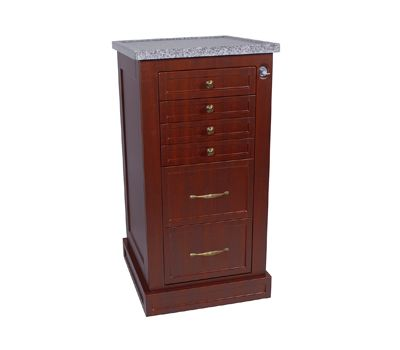 Categories :: Exam Room :: Medical Equipments :: Carts :: CABINETS ::  Harloff Wood Look Treatment Cart Narrow Cabinet 6 Drawers Key Locking With  Best Lock ...
